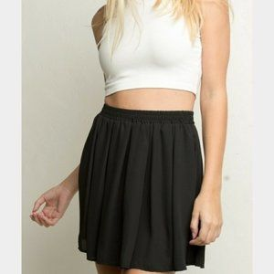 Brandy Melville Basic Black Flowy Mini Skirt